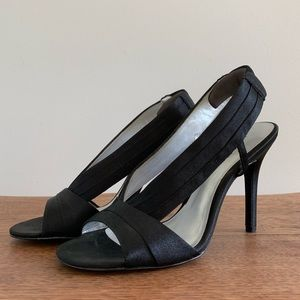 Nine West Satin Heels, Black, Size 8.5